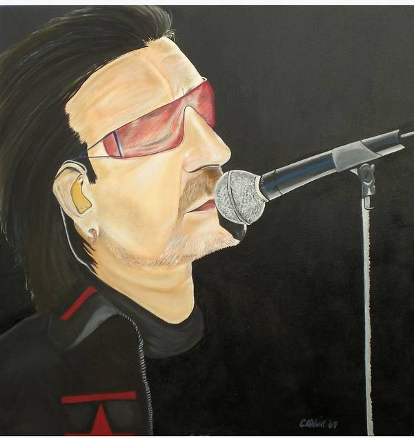 Bono Art Print featuring the painting Bono by Colin O neill