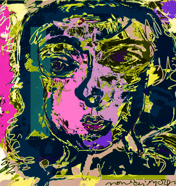 Color Art Print featuring the painting Emotional Appeal by Noredin Morgan