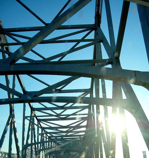 Bridge Art Print featuring the photograph Goin To New Orleans by Heather S Huston