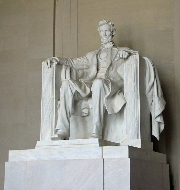 Usa Abe Lincoln Washington America Art Print featuring the photograph Honest Abe by Kat Dee