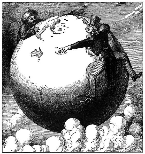 1876 Art Print featuring the photograph Imperialism Cartoon, 1876 by Granger