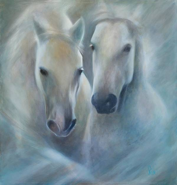 Horse Art Print featuring the painting Lipizzaner Spirit by Elizabeth Silk