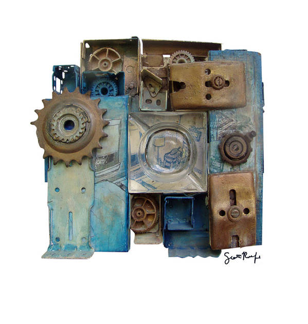Midnight Art Print featuring the mixed media Midnight Mechanism by Scott Rolfe
