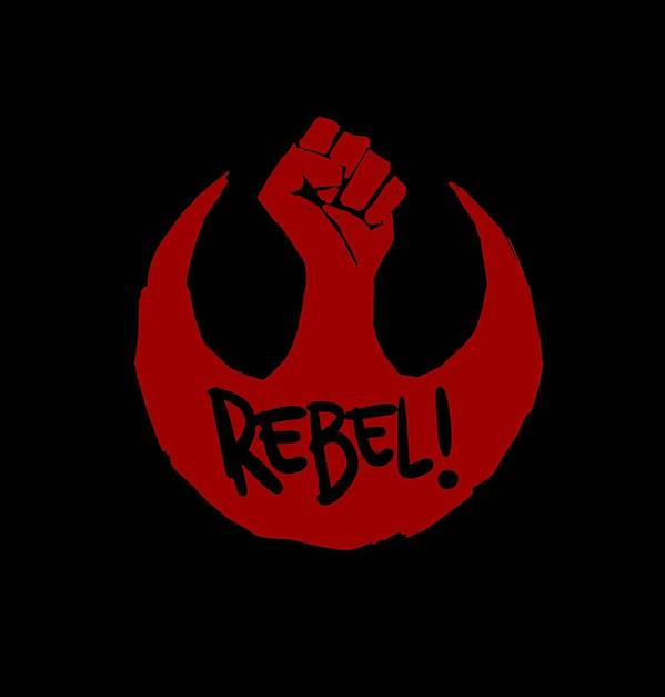 Star Wars Art Print featuring the digital art Rebel by Gerry Kalina