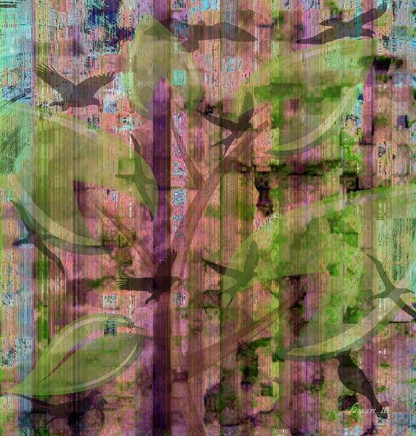 Faniart Art Print featuring the mixed media Secret Life Of Birds by Fania Simon
