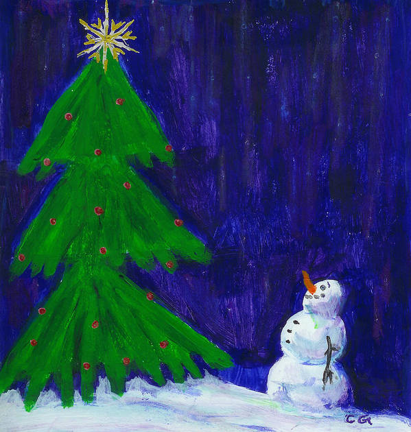 Christmas Art Print featuring the painting Wish Upon A Star by BlondeRoots Productions