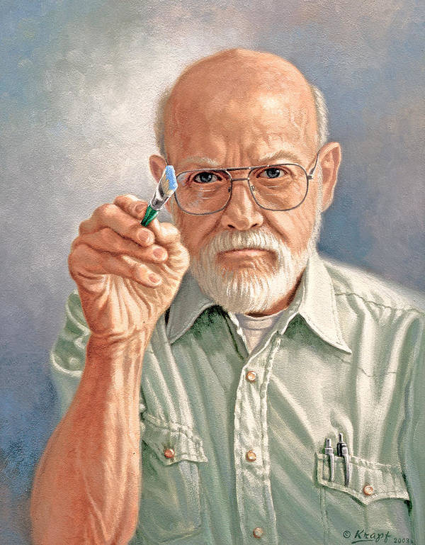 Artist Art Print featuring the painting Canvas-eye View Of The Artist by Paul Krapf