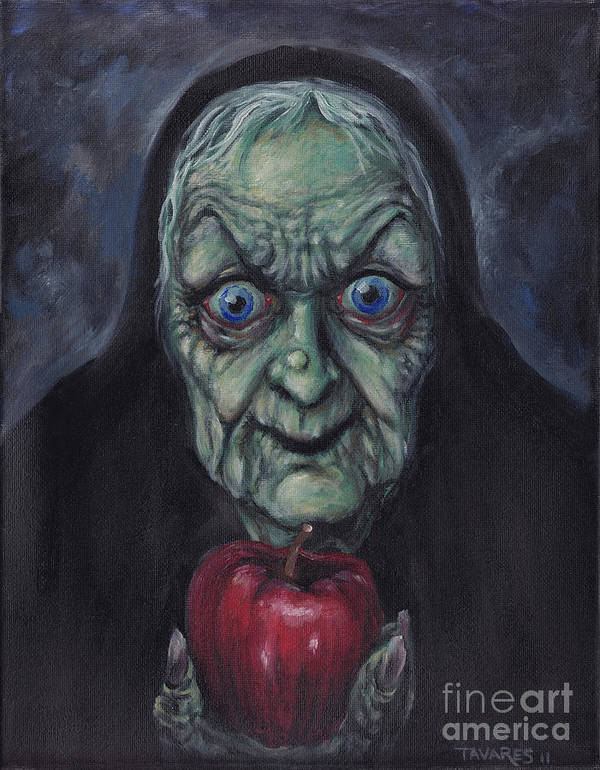 Witch Art Print featuring the painting For You My Dear by Mark Tavares