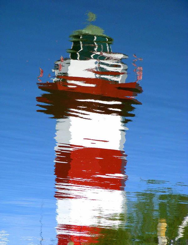 Hilton Head Art Print featuring the photograph Hilton Head Lighthouse Reflection by Duane McCullough