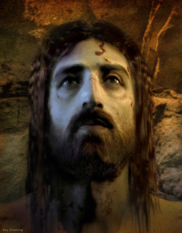 Jesus Art Print featuring the digital art Jesus Alive Again by Ray Downing