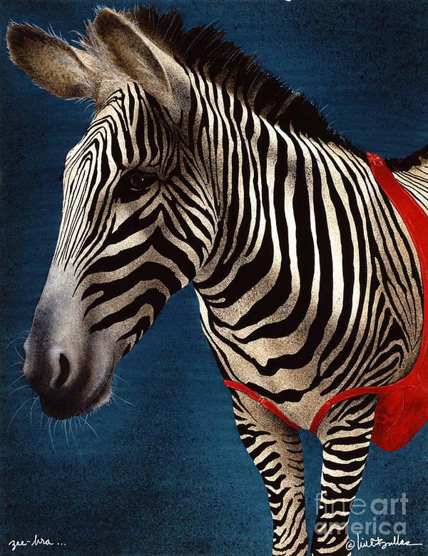Will Bullas Art Print featuring the painting Zeebra by Will Bullas