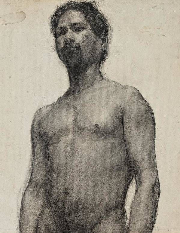 Study Art Print featuring the drawing Study Of A Negro Man by Henry Ossawa Tanner