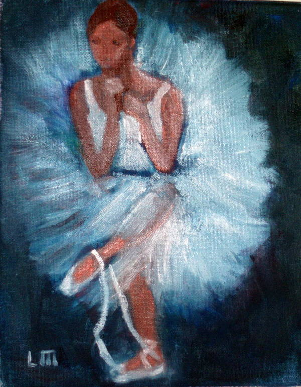Classical Dance Art Print featuring the painting Ballerina 2 by Lia Marsman