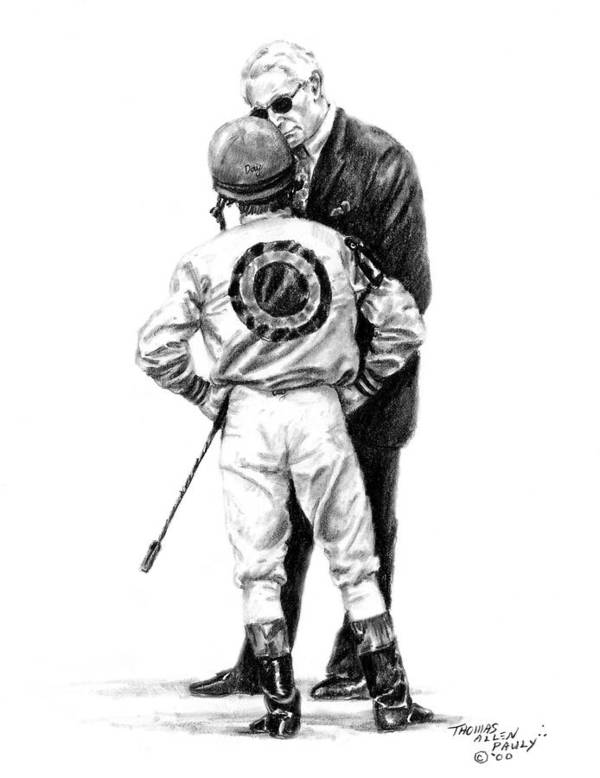 Derby Art Print featuring the painting Final Advice by Thomas Allen Pauly