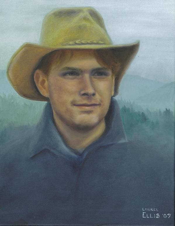 Art Print featuring the painting Jarrod by Laurel Ellis