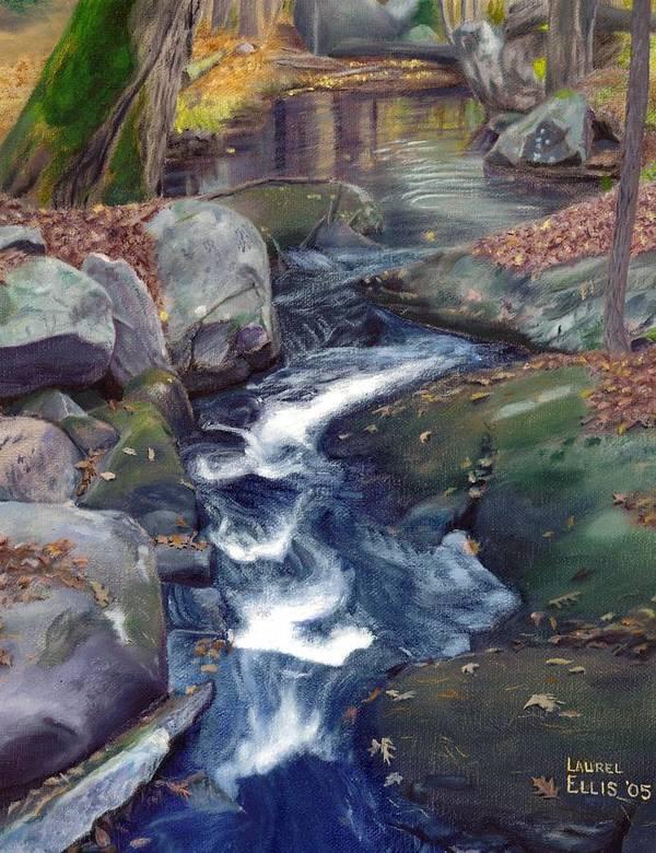 Landscape Art Print featuring the painting Mountain Brook Iv by Laurel Ellis