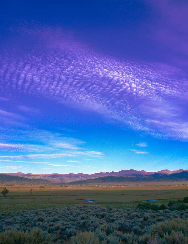 Agriculture Art Print featuring the photograph Sunset La Vega Costilla County Co by Troy Montemayor