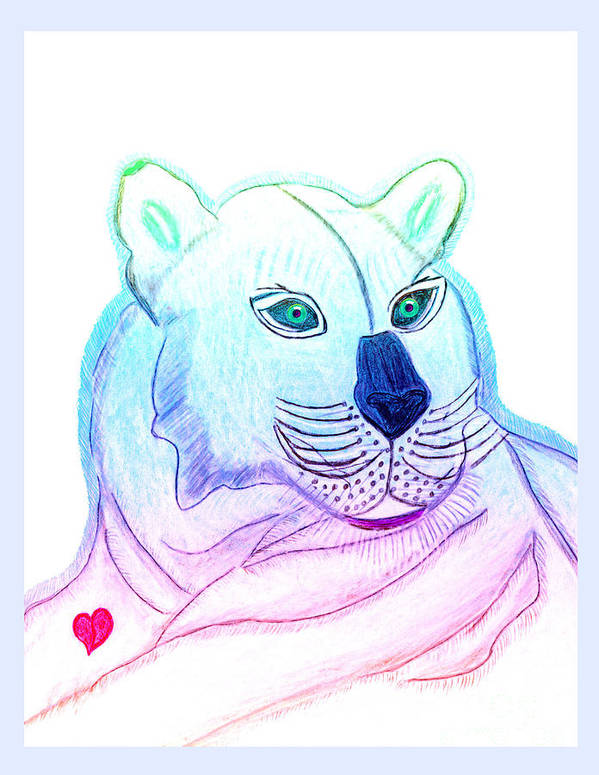 Wild Cat Art Print featuring the painting Zamir by Tess M J Iroldi