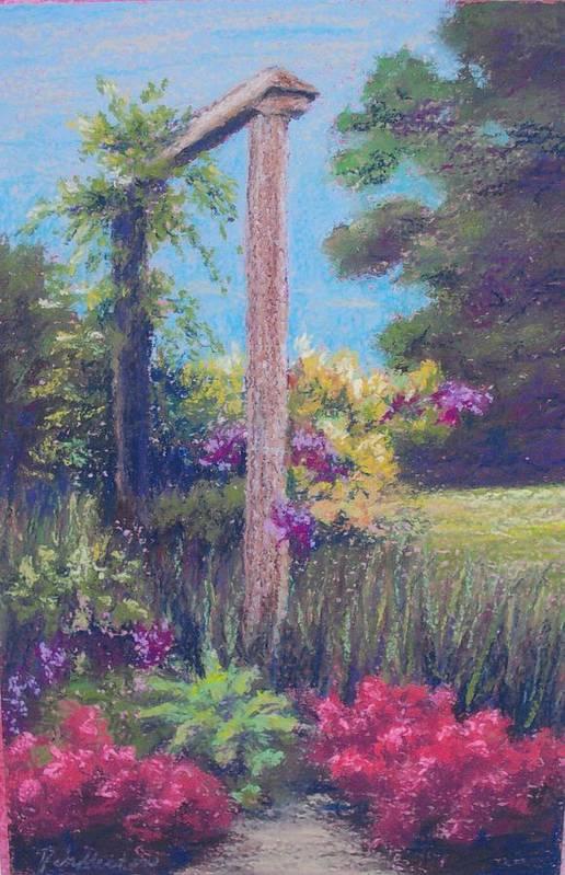 Gardens Art Print featuring the painting Gardener's Dream by Miriam Pinkerton