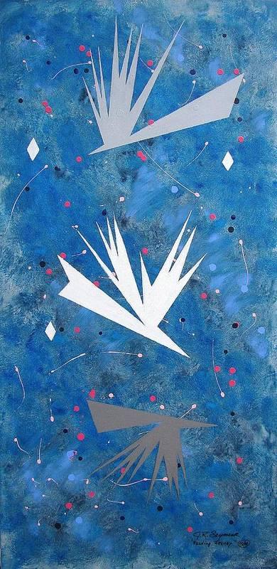 Birds And Diamond Stars Art Print featuring the painting Feeding Frenzy by J R Seymour