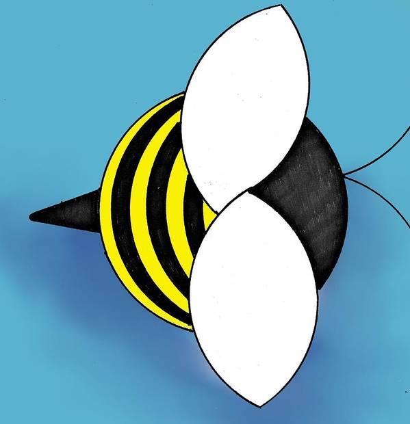 Bee Art Print featuring the digital art Bee2011 by Loretta Nash