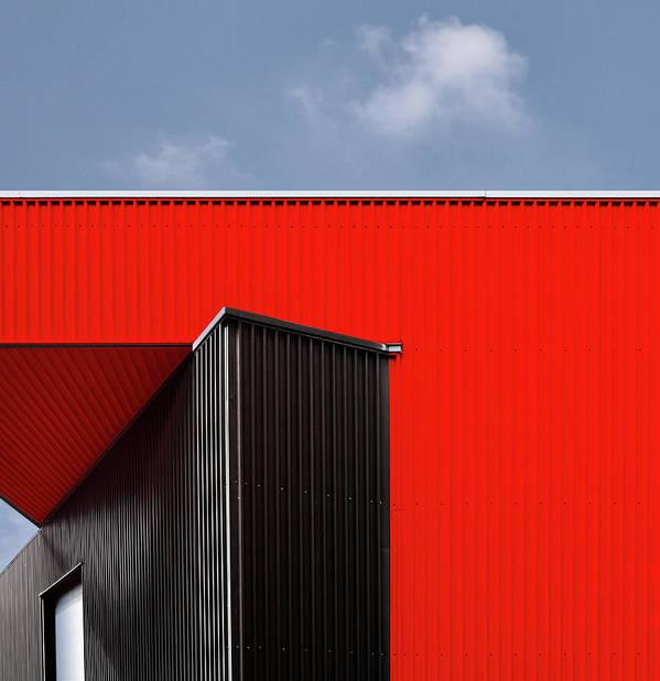 Red Art Print featuring the photograph Black/red. by Harry Verschelden