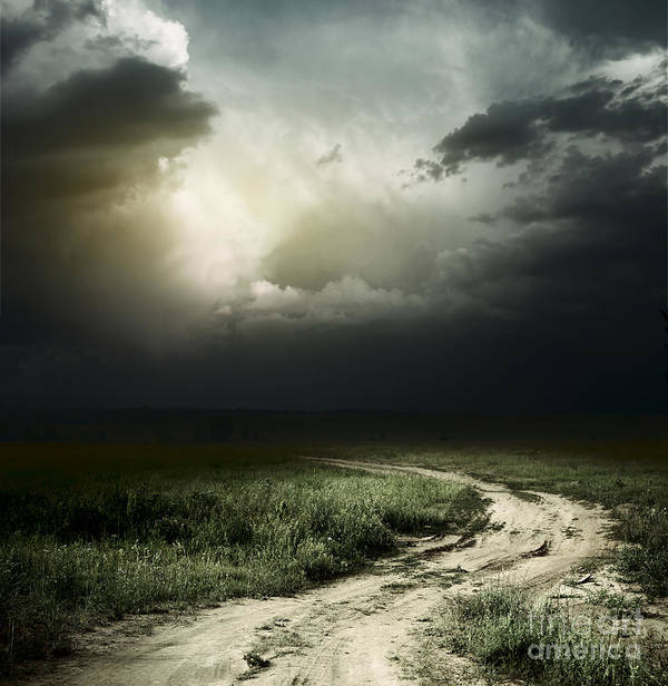 Dark Storm Cloud Print featuring the photograph Dark Storm Cloud by Boon Mee