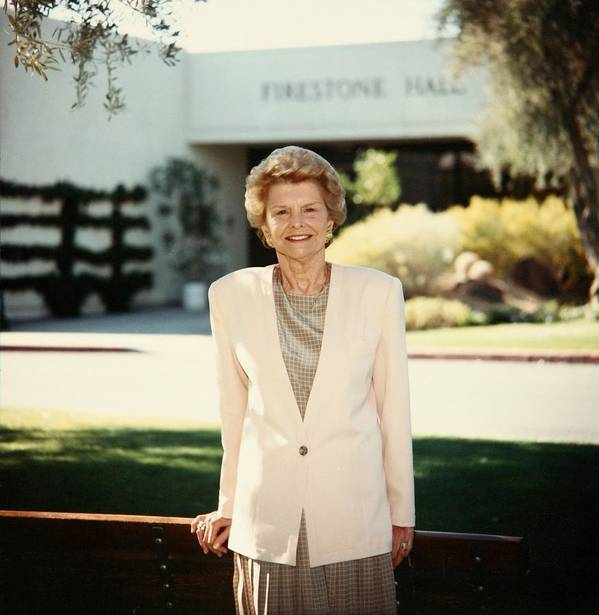 History Art Print featuring the photograph Former First Lady Betty Ford Posing by Everett