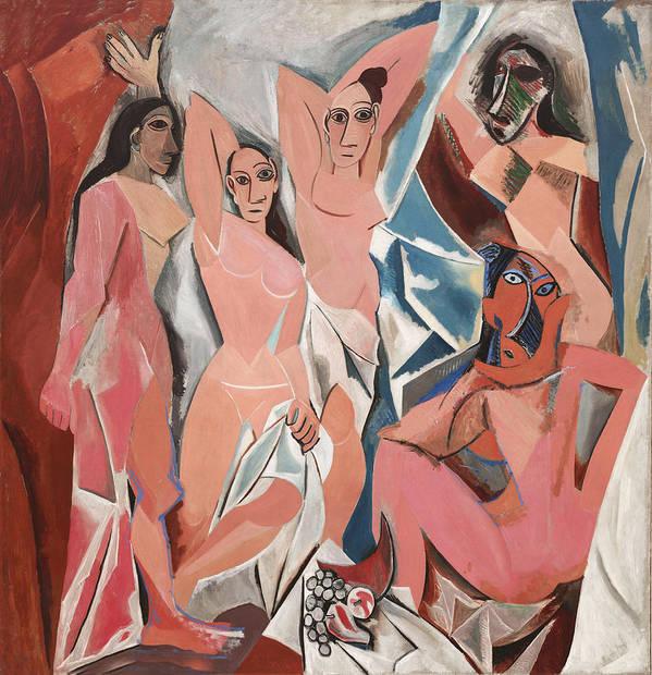 Les Demoiselles D Avignon Art Print featuring the photograph Les Demoiselles D Avignon by Pablo Picasso