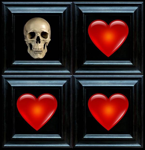 Heart Art Print featuring the digital art Love And Death IIi by Lee Kendall