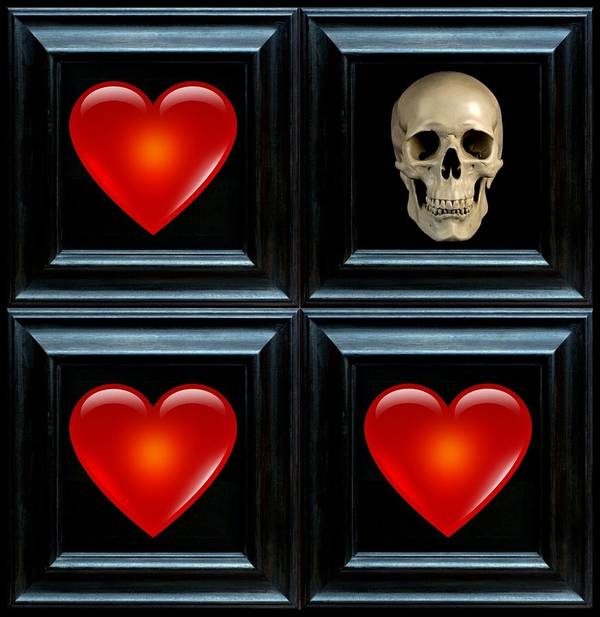 Heart Art Print featuring the digital art Love And Death V by Lee Kendall