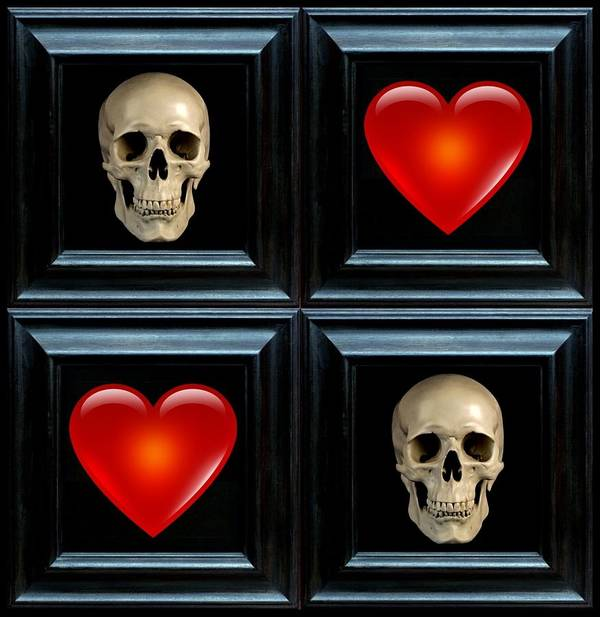 Heart Art Print featuring the digital art Love And Death Vi by Lee Kendall