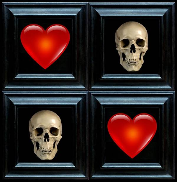 Heart Art Print featuring the digital art Love And Death Vii by Lee Kendall