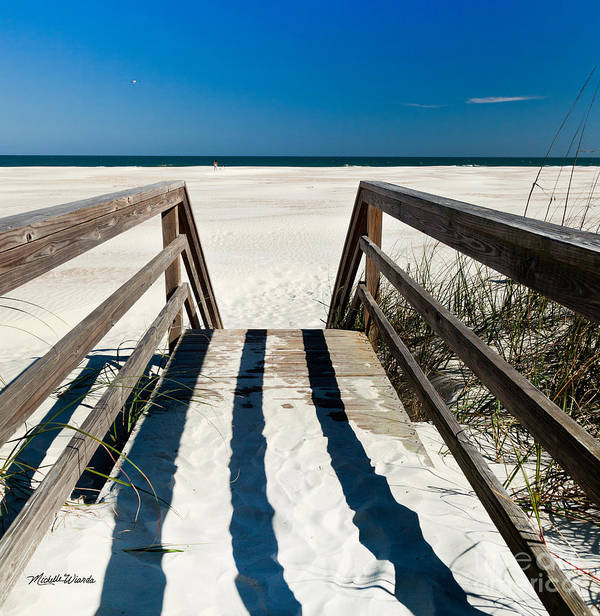 Stairway To Happiness And Possibilities Art Print featuring the photograph Stairway To Happiness And Possibilities by Michelle Wiarda-Constantine