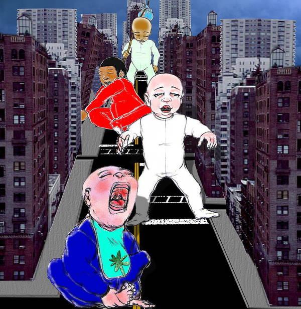 Art Print featuring the digital art Baby City by Robert Kirklin