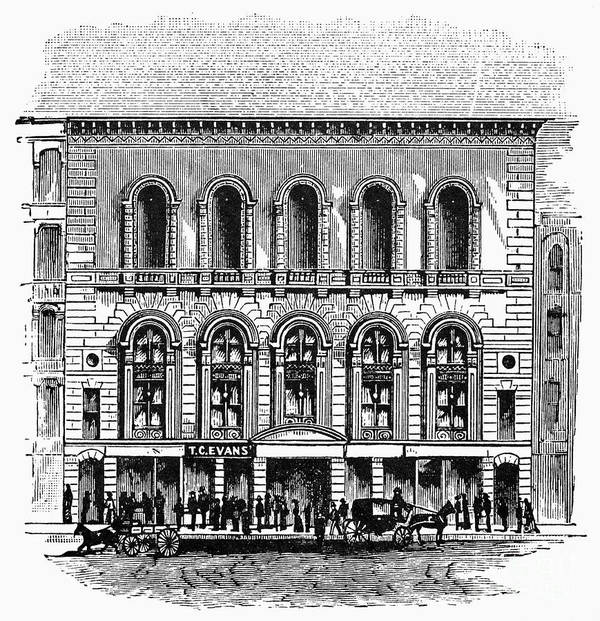1889 Art Print featuring the photograph Boston: Tremont Temple by Granger