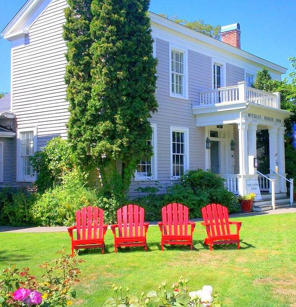 Adirondack Chair Print featuring the photograph Lawn Chairs by Randall Weidner