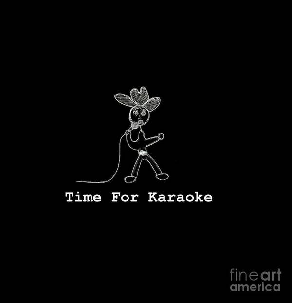 Time For Karaoke Art Print featuring the digital art Time For Karaoke by Jeannie Atwater Jordan Allen