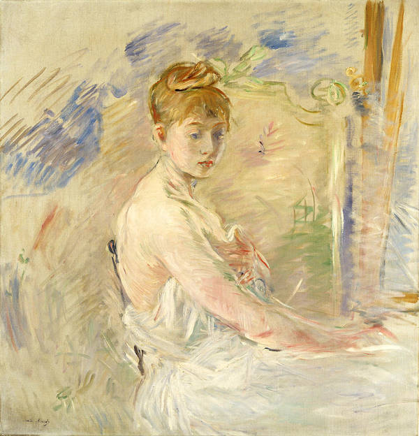 Young Girl Getting Up (mlle. Euphrasie) 1886 (oil On Canvas) By Berthe Morisot (1841-95) Art Print featuring the painting Young Girl Getting Up by Berthe Morisot