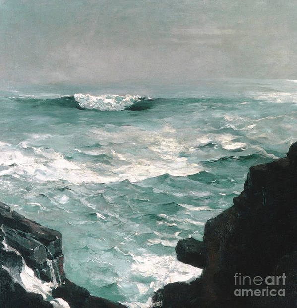 Homer Art Print featuring the painting Cannon Rock, 1895 by Winslow Homer