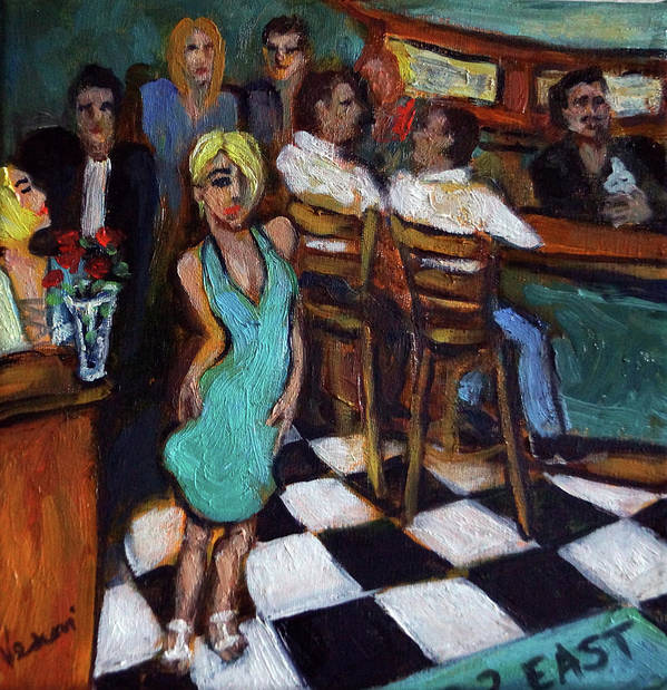 Restaurant Art Print featuring the painting 32 East by Valerie Vescovi