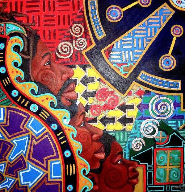 Malik Seneferu Art Print featuring the painting Aesthetic Ascension Series by Malik Seneferu
