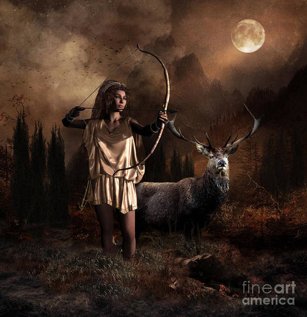 Artemis Goddess Of The Hunt Art Print