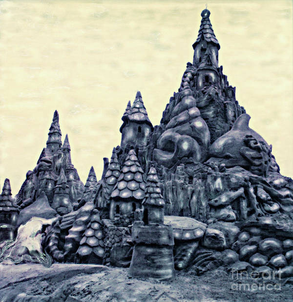 Sandcastles Art Print featuring the photograph Castles On The Beach by Keith Dillon