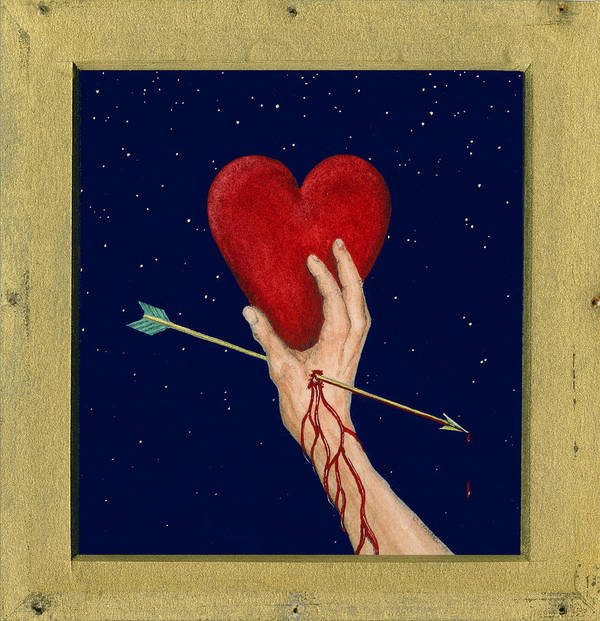 Cupid Art Print featuring the painting Cupids Arrow by Charles Harden