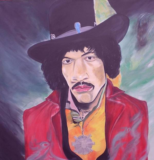 Hendrix Art Print featuring the painting Hendrix by Colin O neill