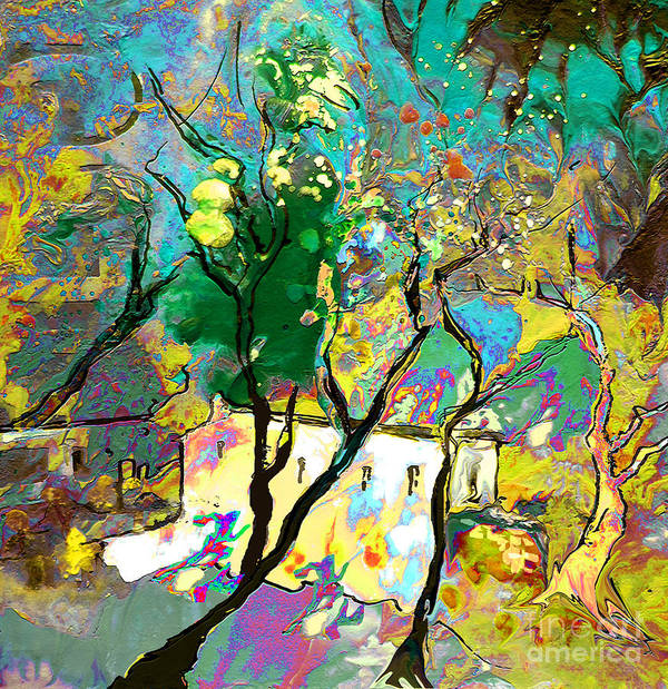 Miki Art Print featuring the painting La Provence 16 by Miki De Goodaboom