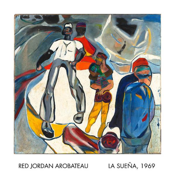 Dreamer Art Print featuring the painting La Suena by Red Jordan Arobateau