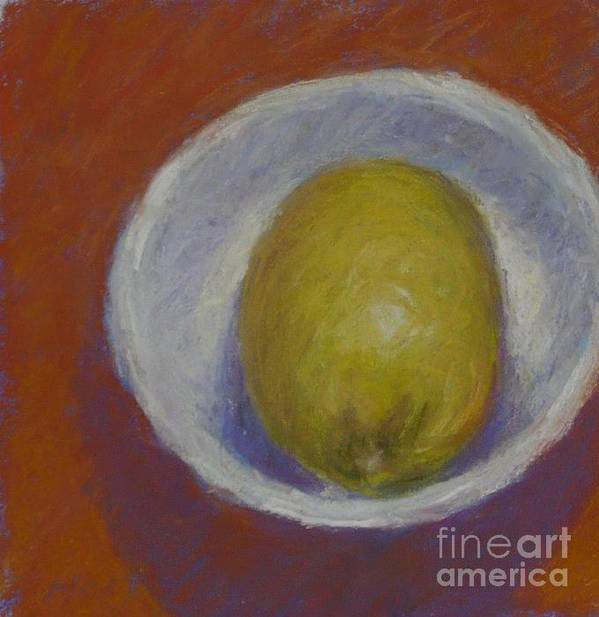 Still Life Art Print featuring the painting Lemon In A Small Bowl by Dolores Holt