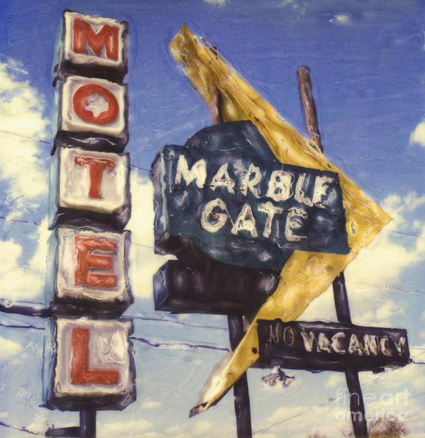 Polaroid Art Print featuring the photograph Motel Marble Gate by Steven Godfrey
